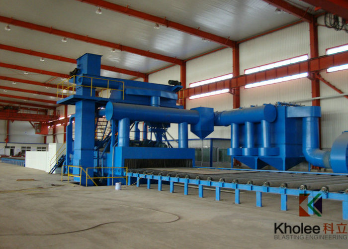 KLY Steel Plate Shot Blasting Painting Production Line