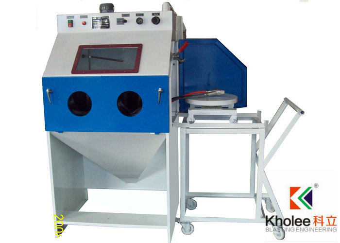 Turntable Sandblasting Cabinet for Die Mould Cleaning
