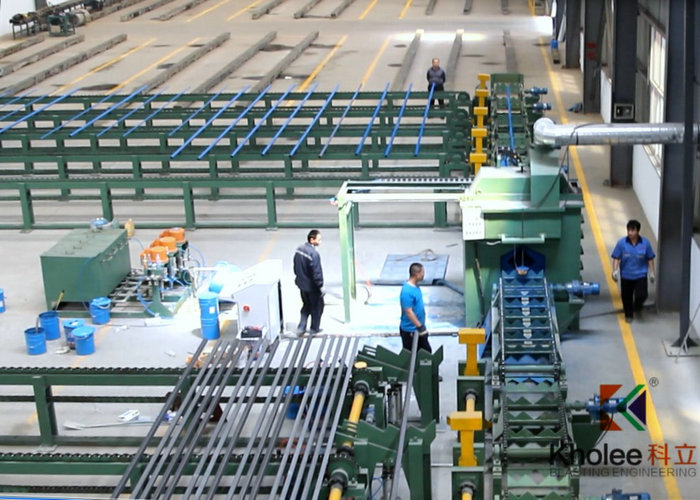Square Tube Airless Painting Production Line