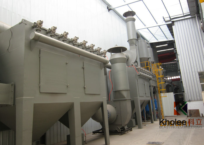 KL-PSF150706WF Blasting Room With Waffle Floor Abrasive Recovery System